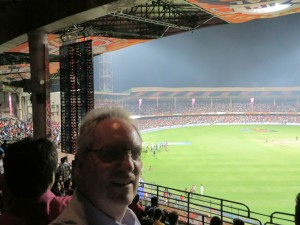 Michael in the stands IPL Final Bangalore May 2014