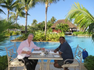 Michael and Maga in Mauritius